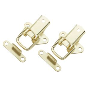 View B&Q Brass Effect Toggle & Plate Catch, Pack of 2 details