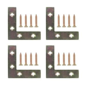 View B&Q Steel Corner Plate, Pack of 4 details
