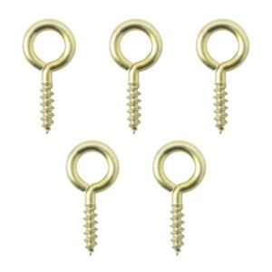 View B&Q Brass Screw Eye, Pack of 25 details