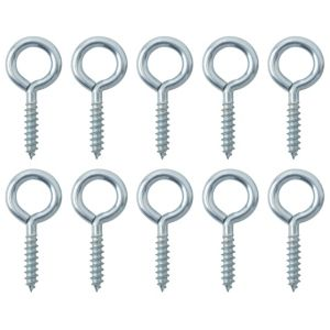 View B&Q Zinc Effect Metal Screw Eye, Pack of 10 details