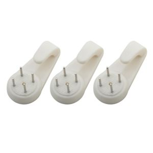 View B&Q White Picture Hook, Pack of 3 details