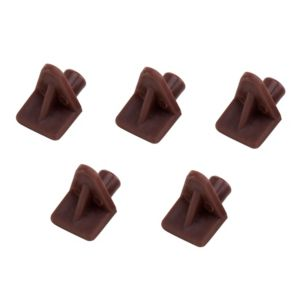 View Brown Plastic Shelf Support (H)10mm (W)11.5mm details