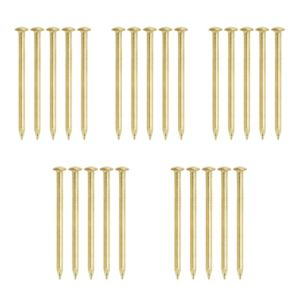 View B&Q Brass Effect Picture Pin Pack of 25 details