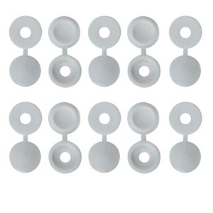 View B&Q M4 Pozi Screw Cap (Dia)12mm, Pack of 100 details