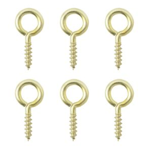 View B&Q Brass Screw Eye, Pack of 6 details