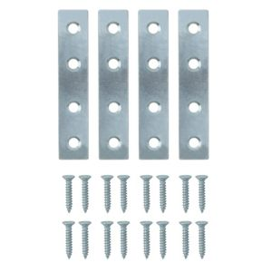 View B&Q Zinc Effect Steel Mending Plate (L)75mm, Pack of 4 details