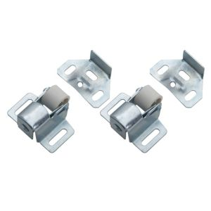 View B&Q Zinc Effect Roller Catch, Pack of 2 details