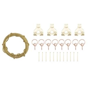 View B&Q Brass Effect Picture Hanging Kit details