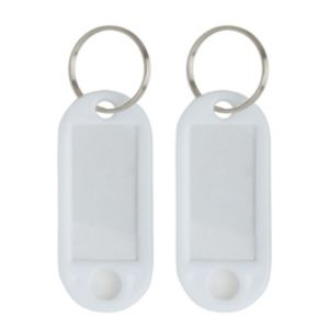 View B&Q White Key Split Ring & Tag details