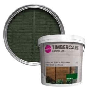 View B&Q Timbercare Forest Green Satin Shed & Fence Stain 9L details