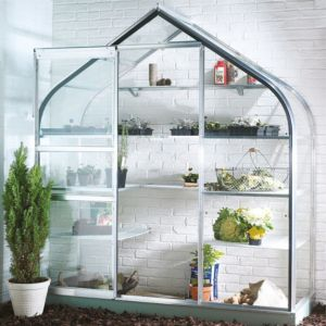 Image of B&Q Metal 6x2 Toughened safety glass wall garden greenhouse