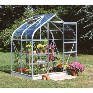 Image of B&Q Metal 6x4 Toughened safety glass greenhouse