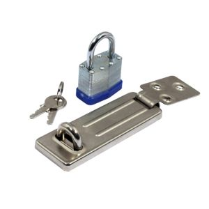 View B&Q Laminated Steel Pin Tumbler Padlock (W)40mm details