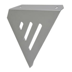 View B&Q Matt Stainless Steel Effect Steel Shelf Bracket details