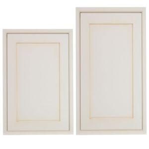 Cooke & Lewis Woburn Framed Tall Larder Door (W)600mm  Set of 2