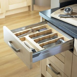 View Cooke & Lewis Beech Effect Wood Kitchen Utensil Tray details