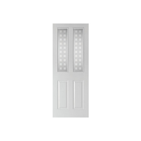 4 panel pre painted white woodgrain internal standard door - Pre painted white interior doors ...