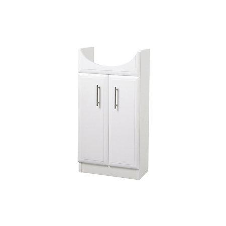 b q white vanity slimline cloakroom unit departments. Black Bedroom Furniture Sets. Home Design Ideas