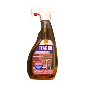 View B&Q Brown Teak Oil Spray 500ml details