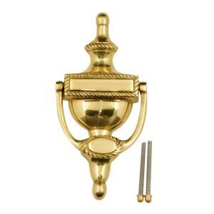 View Classic Brass Effect Door Knocker details