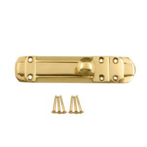 B&Q Polished Brass Brass Straight Bolt (L)152mm