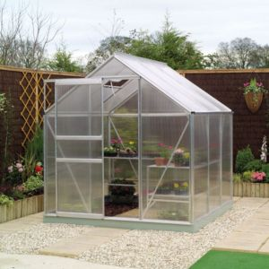 View B&Q Silver Greenhouse Frame (H)1930mm (W)1930mm details