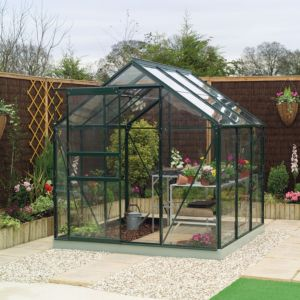 View B&Q Metal Greenhouse Frame 6X6 details