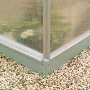 View B&Q Grey Steel Greenhouse Base (L)2570mm (W)1.93m details