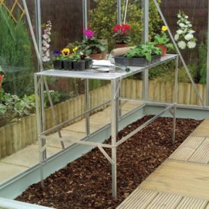 View B&Q 1 Tier Greenhouse Staging details
