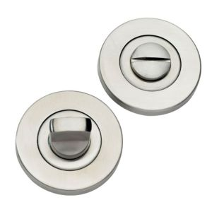 View B&Q Stainless Steel Effect Bathroom Thumbturn with Indicator details