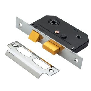 View B&Q Chrome Effect Bathroom Lock details