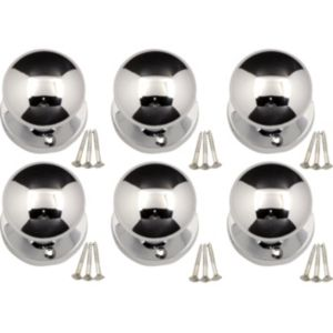 View B&Q Value Polished Chrome Effect Round Internal Mortice Knob, Pack of 3 Pairs details