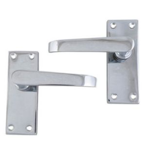 View B&Q Value Polished Chrome Effect Straight Internal Lever Latch Door Handle,  Pack of 1 Pair details