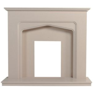 View Oslo Marfil Stone Micro Marble Fire Surround Set details