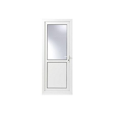 1 panel pvcu white pvcu glazed back door frame lh h for Back door and frame set