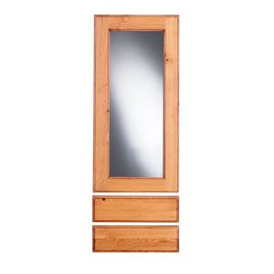 View Cooke & Lewis Hedingham 500mm Tall Glazed Door & Drawer Front, Pack  W1, Set of 3 details
