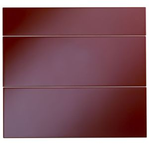 View Cooke & Lewis High Gloss Red 800mm Pan Drawer Front, Pack  T, Set of 3 details