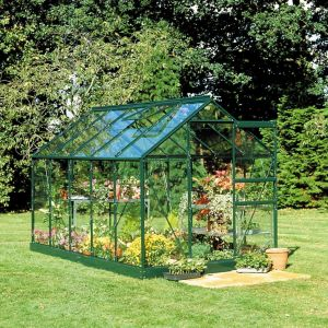 Green B&Q 6X4 Toughened Safety Glass Greenhouse