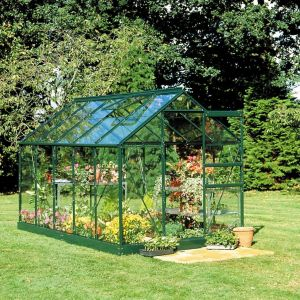 Image of B&Q Metal 6x6 Toughened safety glass greenhouse