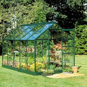 Image of B&Q Metal 6x10 Toughened safety glass greenhouse