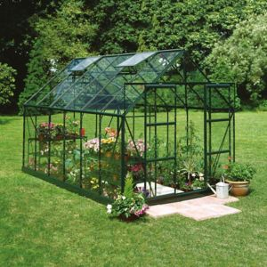 Image of B&Q Metal 8x10 Horticultural glass greenhouse