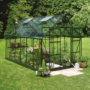 Image of B&Q Metal 8x14 Horticultural glass greenhouse