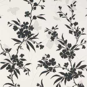 View Vogue Bloom Black & White Wallpaper details