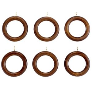 View Colours Modern Wood Curtain Ring (Dia)35mm details