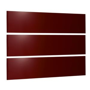 View Cooke & Lewis Designer Burgundy Gloss 3 Linen Drawer Front Pack details