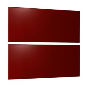 View Cooke & Lewis Burgundy Gloss Bedside Chest Front Pack details