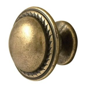 View B&Q Anqitue Antique Brass Round Internal Knob Knob, Pack of 2 Pairs details