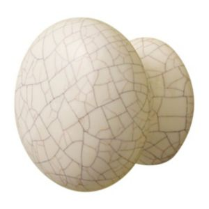 View Cooke & Lewis Cream Crackled Round Knob Pack of 2 details
