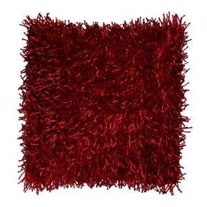 View Nigella Shaggy Deep Red Cushion details