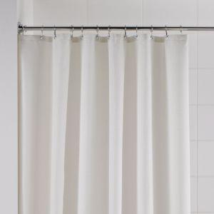 B&Q Cream Waffle Shower Curtain (L)1.8 M